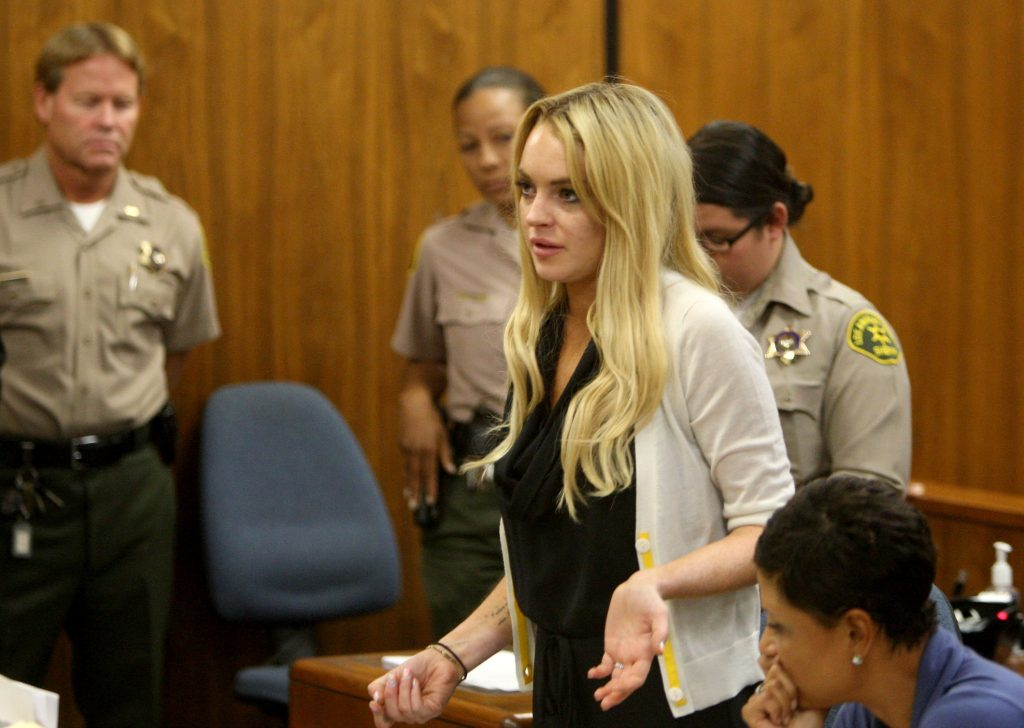 Lindsay Lohan at her probation hearing in 2010