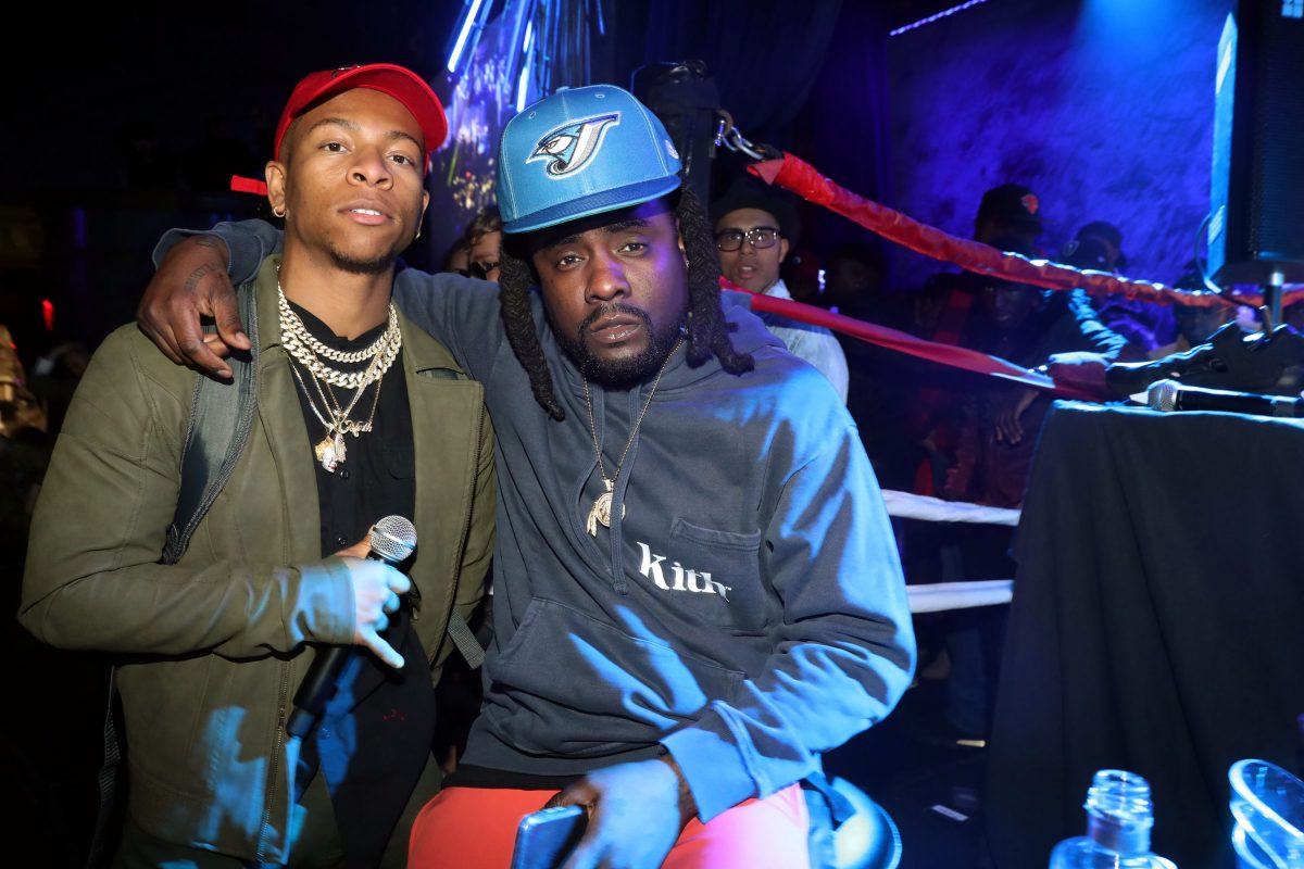Lio Rush (L) and Wale attend Wale's 5th Annual WaleMania at Sony Hall