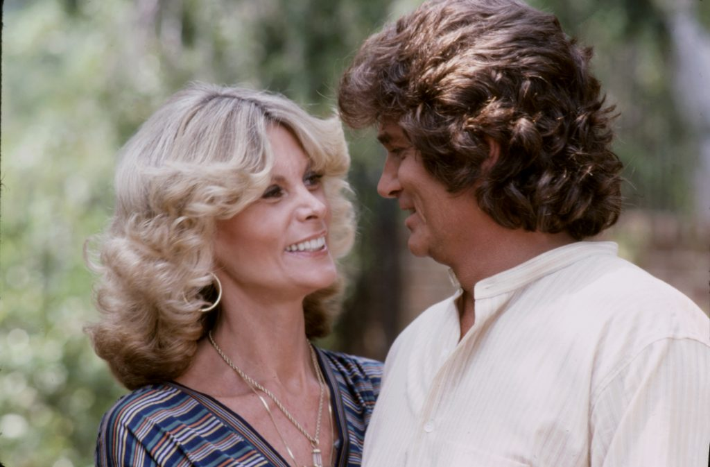 Lynn Noe and Michael Landon appearing on the ABC tv special 'The Barbara Walters Special'.