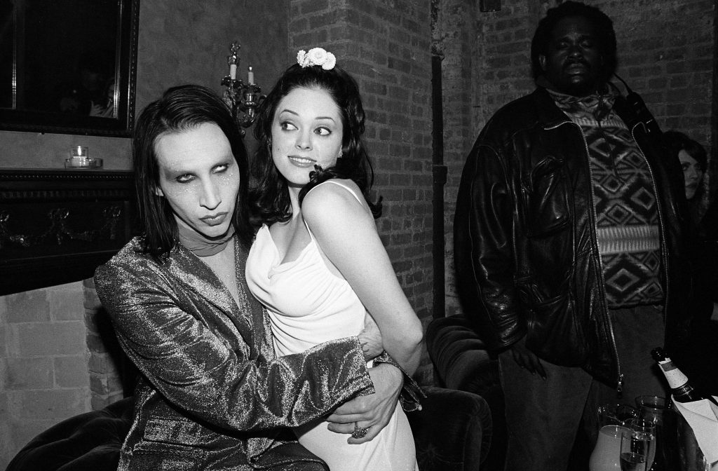 Marilyn Manson with Rose McGowan