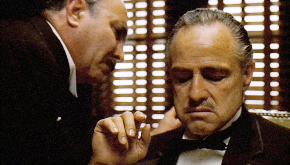 Salvatore Corsitto and Marlon Brando in 'The Godfather'