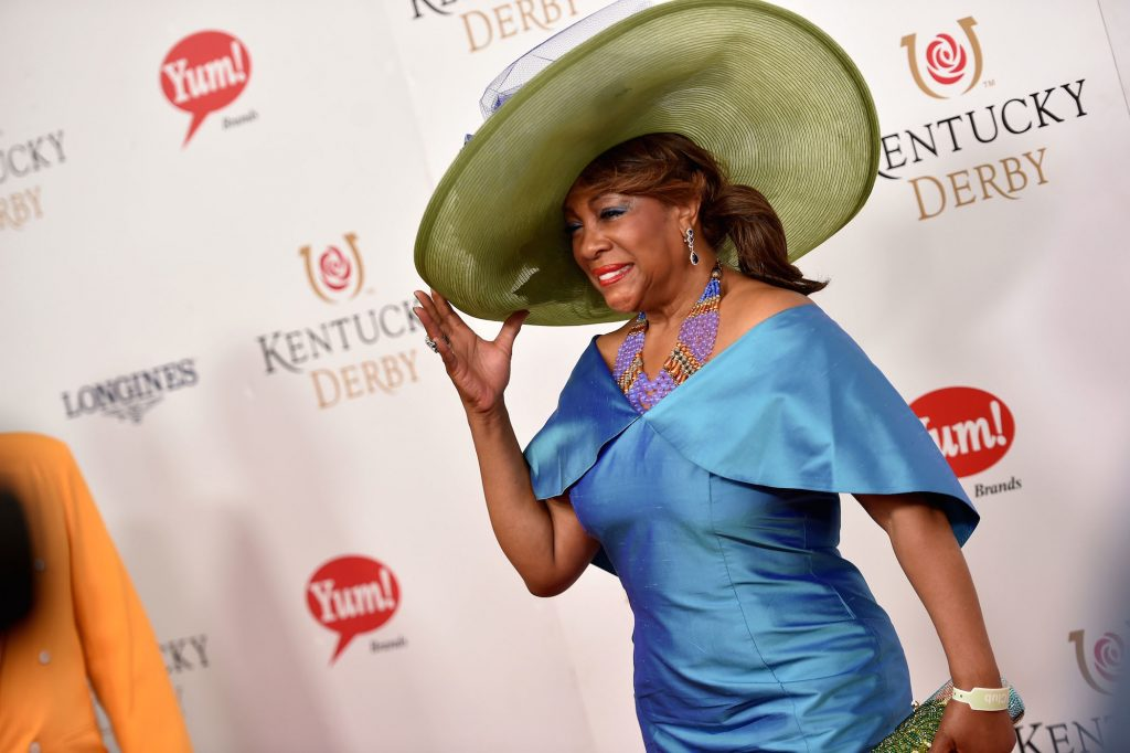 The Supremes' Mary Wilson at the Kentucky Derby