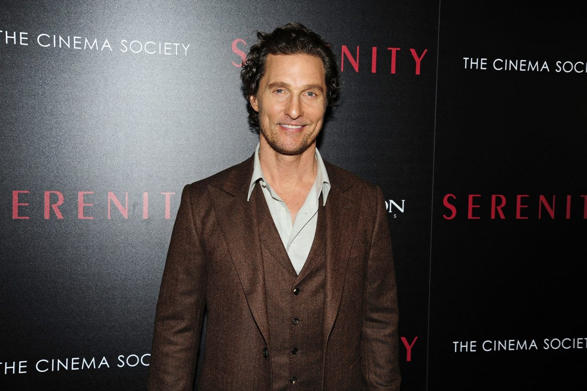 Matthew McConaughey at the Serenity premiere