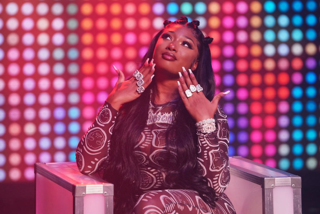 """Megan Thee Stallion during the """"Hello"""" sketch  on 'SNL'"""