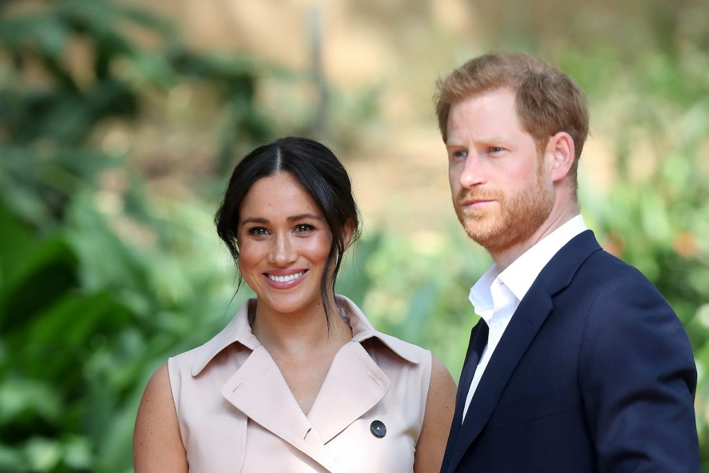Prince Harry and Meghan Markle during their visit to South Africa in 2019