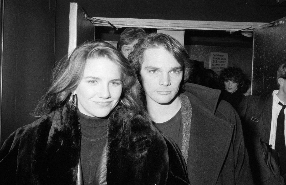 Melissa Gilbert and Bo Brinkman in black and white