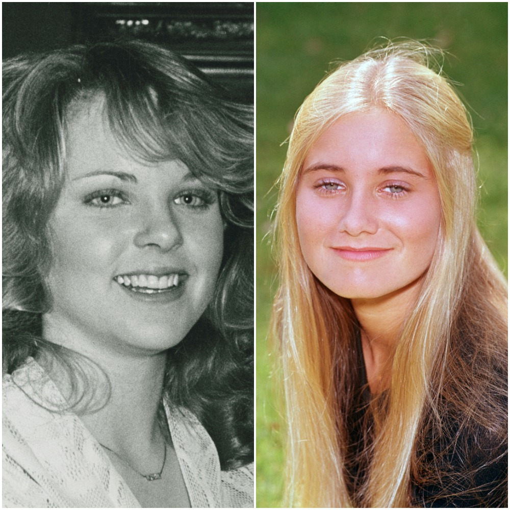 Melissa Sue Anderson of Little House on the Prairie ' and Maureen McCormick of 'The Brady Bunch'
