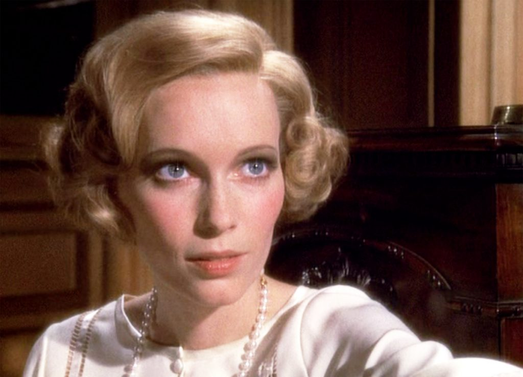 """The movie """"The Great Gatsby"""", directed by Jack Clayton, based on the novel by F. Scott Fitzgerald. Seen here, Mia Farrow as Daisy Buchanan   CBS via Getty Images"""