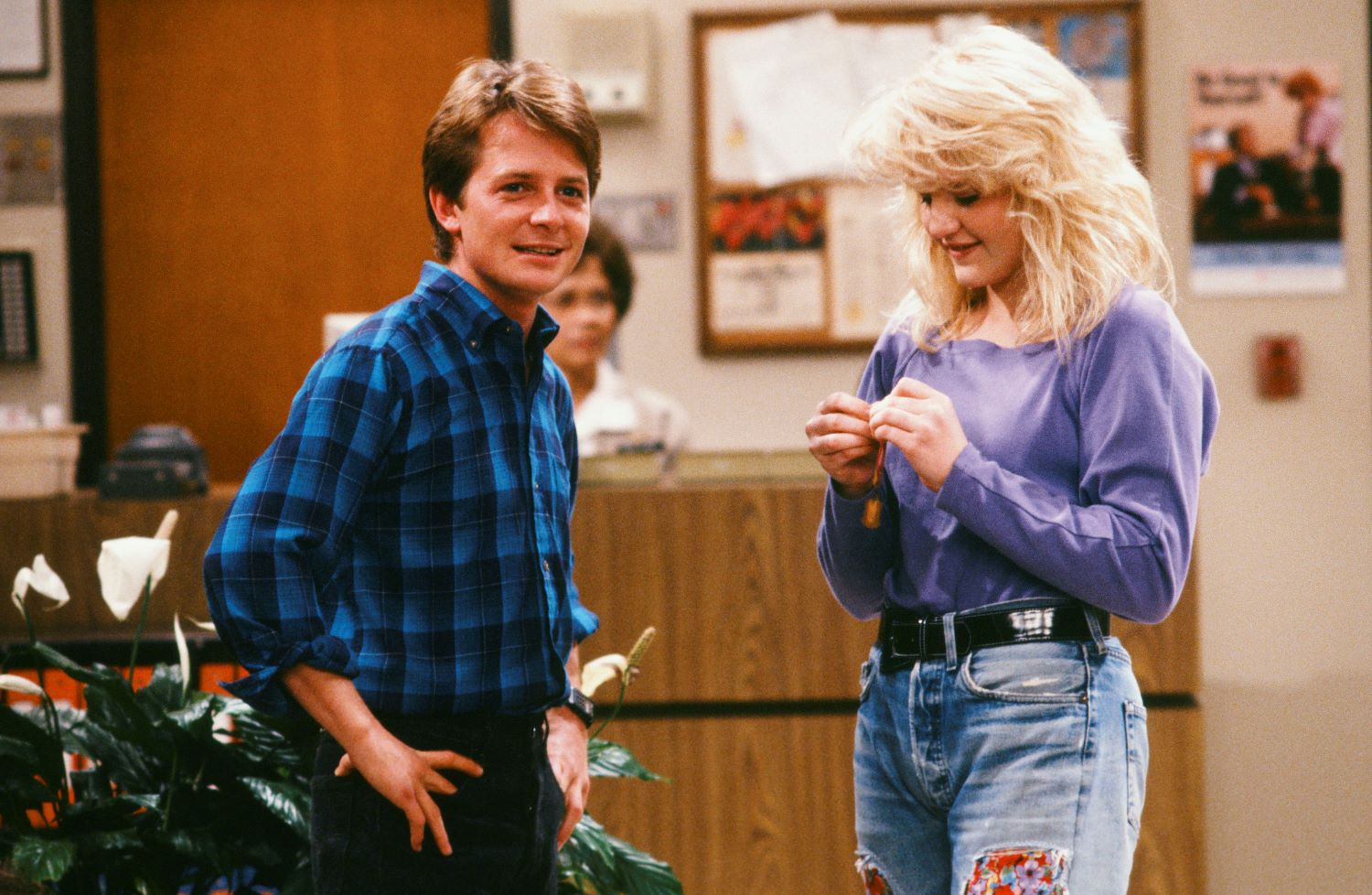 Michael J. Fox and Tina Youthers in 'Family Ties'
