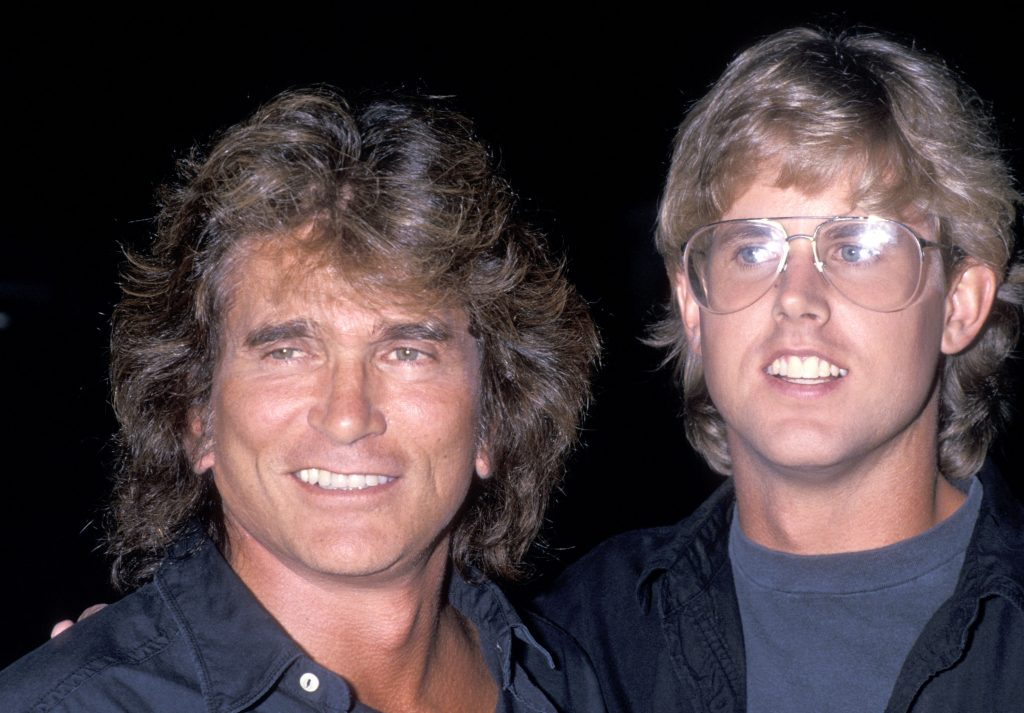 Michael Landon and son Michael Landon, Jr. attend the Third Annual Moonlight Roundup Extravaganza to Benefit Free Arts for Abused Childre