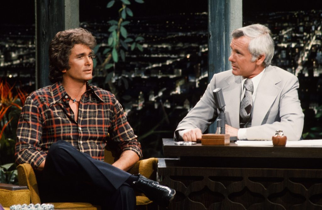 Michael Landon on The Tonight Show with Johnny Carson | Ron Tom/NBCU Photo Bank/NBCUniversal via Getty Images via Getty Images