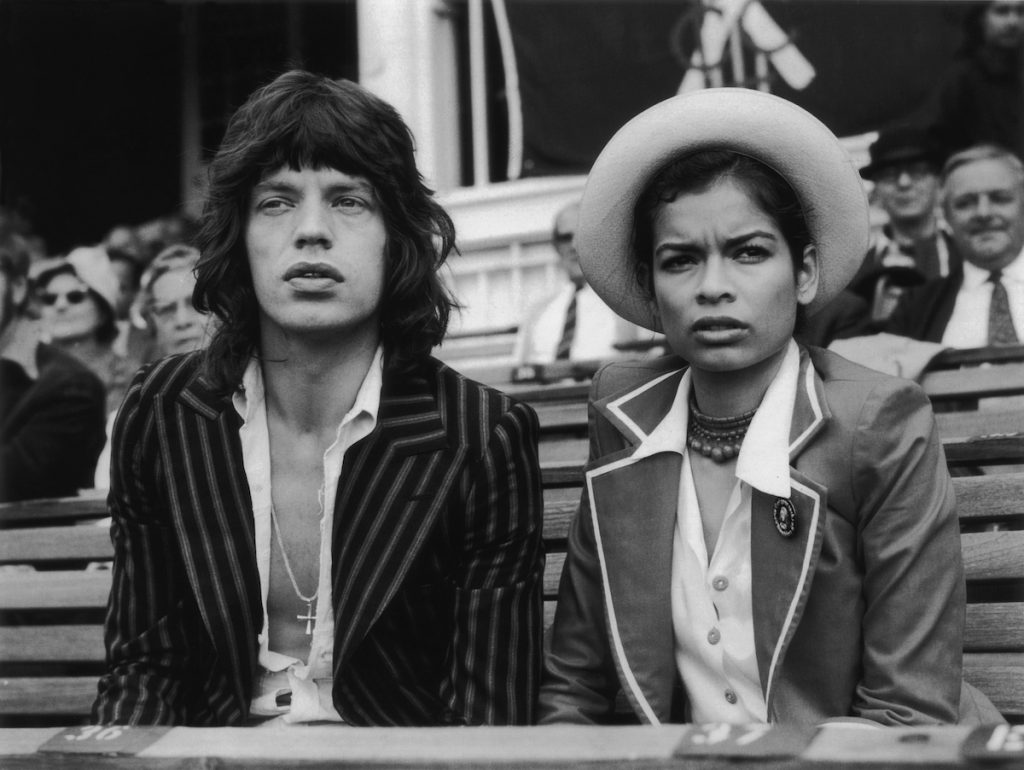 Mick Jagger, the lead singer of 'The Rolling Stones' and his wife Bianca Jagger watching the final cricket test between England and Australia at the Oval   Central Press/Getty Images