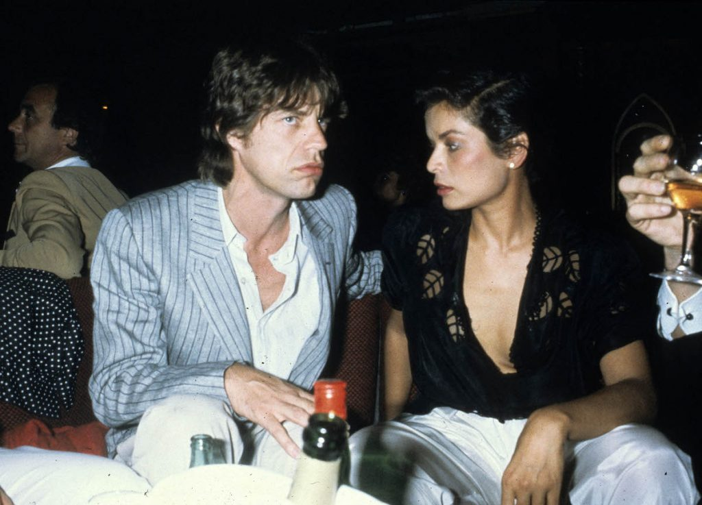 Mick Jagger of The Rolling Stones and Bianca Jagger attend a party at the night club le78 in 1982 in Paris, France   Michel Dufour/WireImage