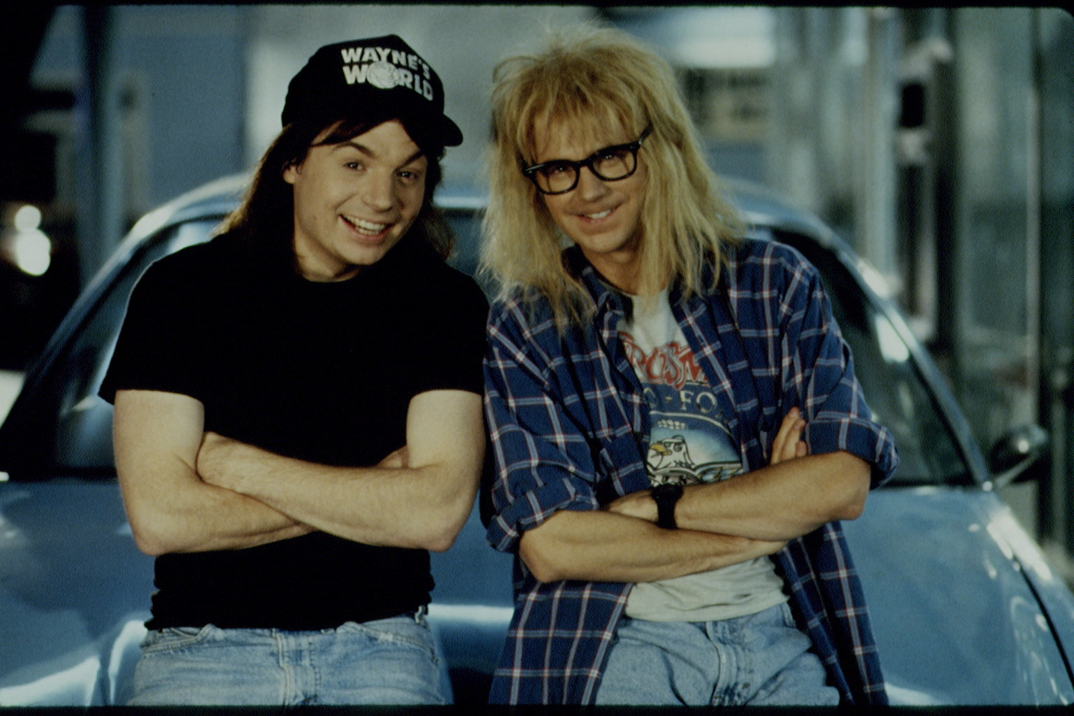 Mike Myers and Dana Carvey in 'Wayne's World 2'