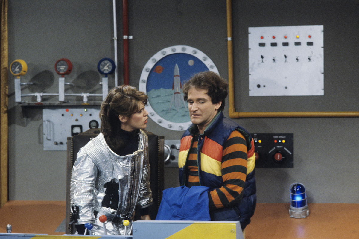 Robin Williams on the set of 'Mork & Mindy'