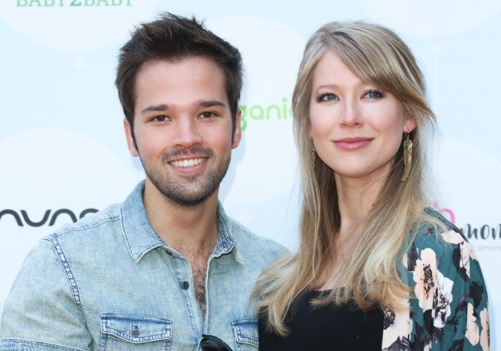 Nathan Kress and wife London Elise Moore
