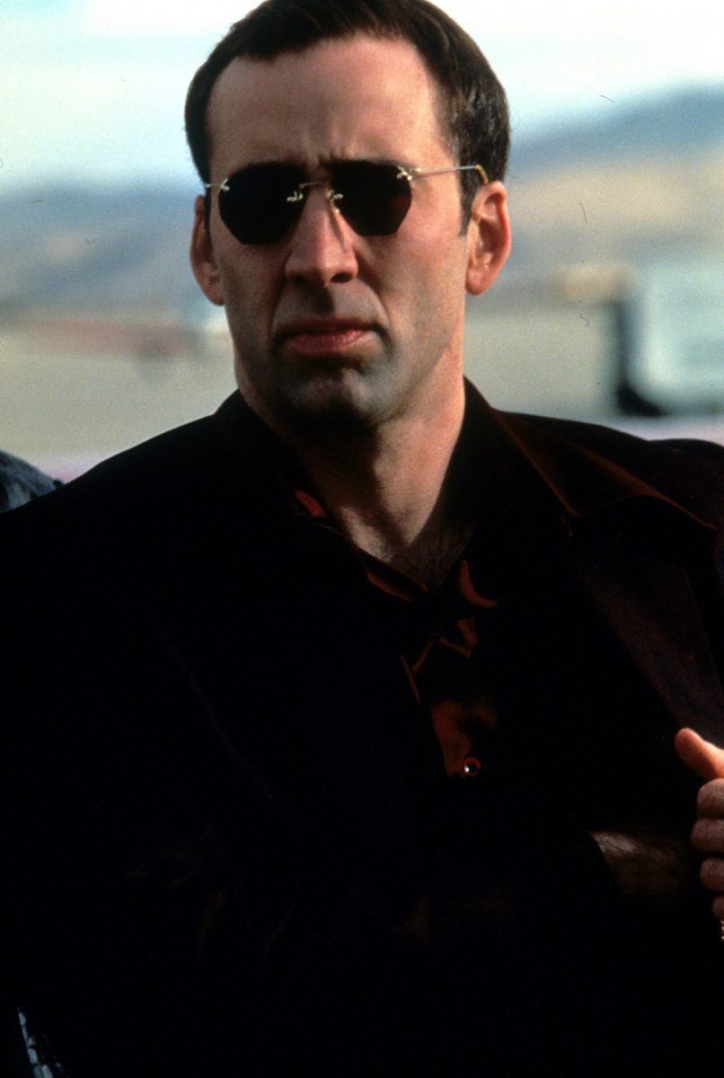 Nicolas Cage wearing sunglasses in Face/Off