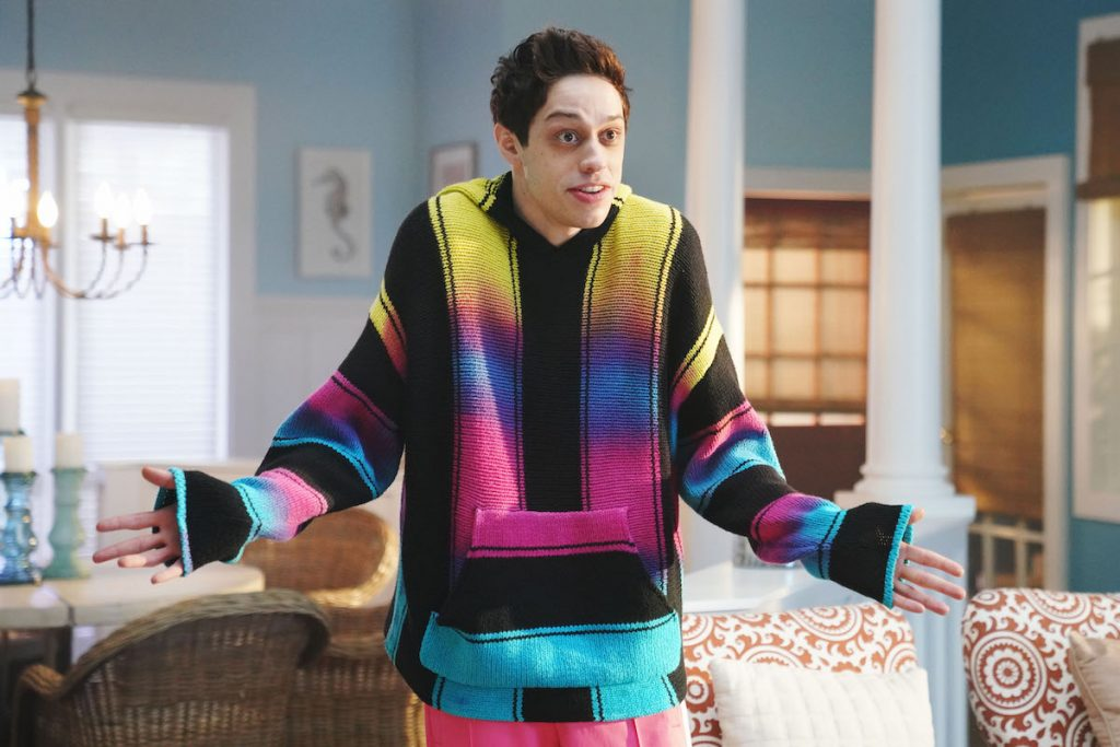 """Pete Davidson during """"A Journey Through Time"""" sketch on 'Saturday Night Live'"""