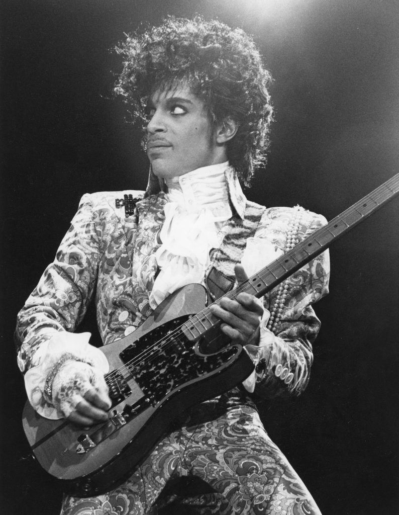 American singer, songwriter and musician Prince, circa 1985.