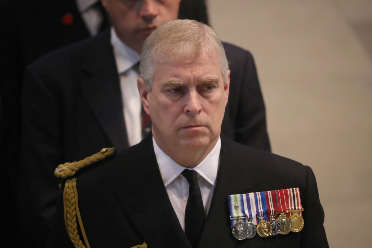 Prince Andrew, Duke of York attends a commemoration service at Manchester Cathedral