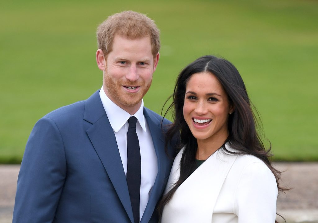 Meghan Markle and Prince Harry standing together