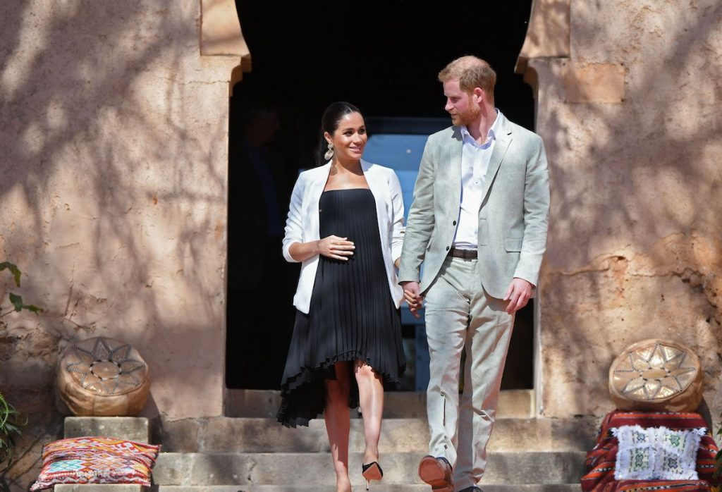 Prince Harry and Meghan Markle visit Kasbah of the Udayas in Morocco in 2019.