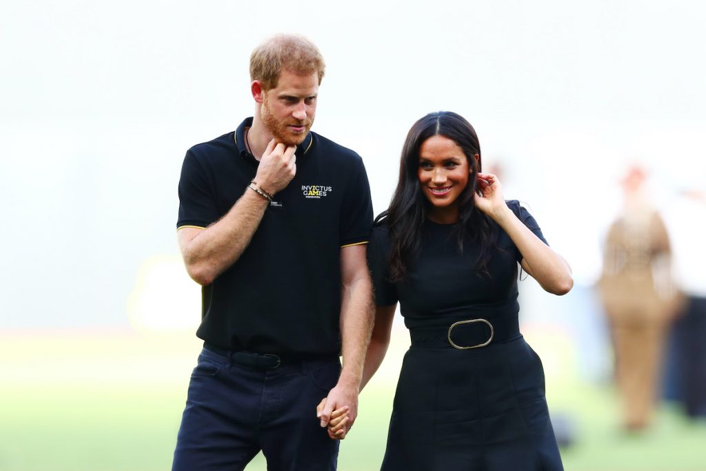 Prince Harry and Meghan Markle attend the MLB London series game in June 2019