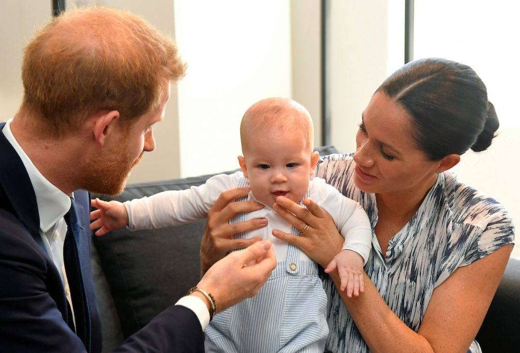 Prince Harry and Meghan Markle with their son, Archie