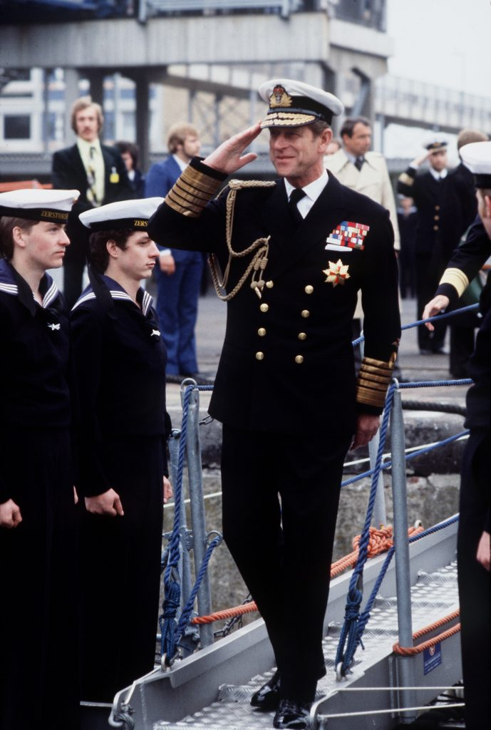 Prince Philip in Uniform of Admiral of The Fleet in Bremerhaven, Germany