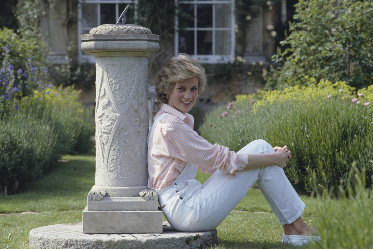 Princess Diana at home in Highrove