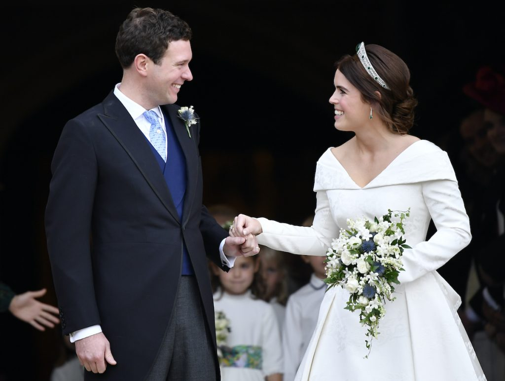 Princess Eugenie and Jack Brooksbank on their wedding day in 2018.