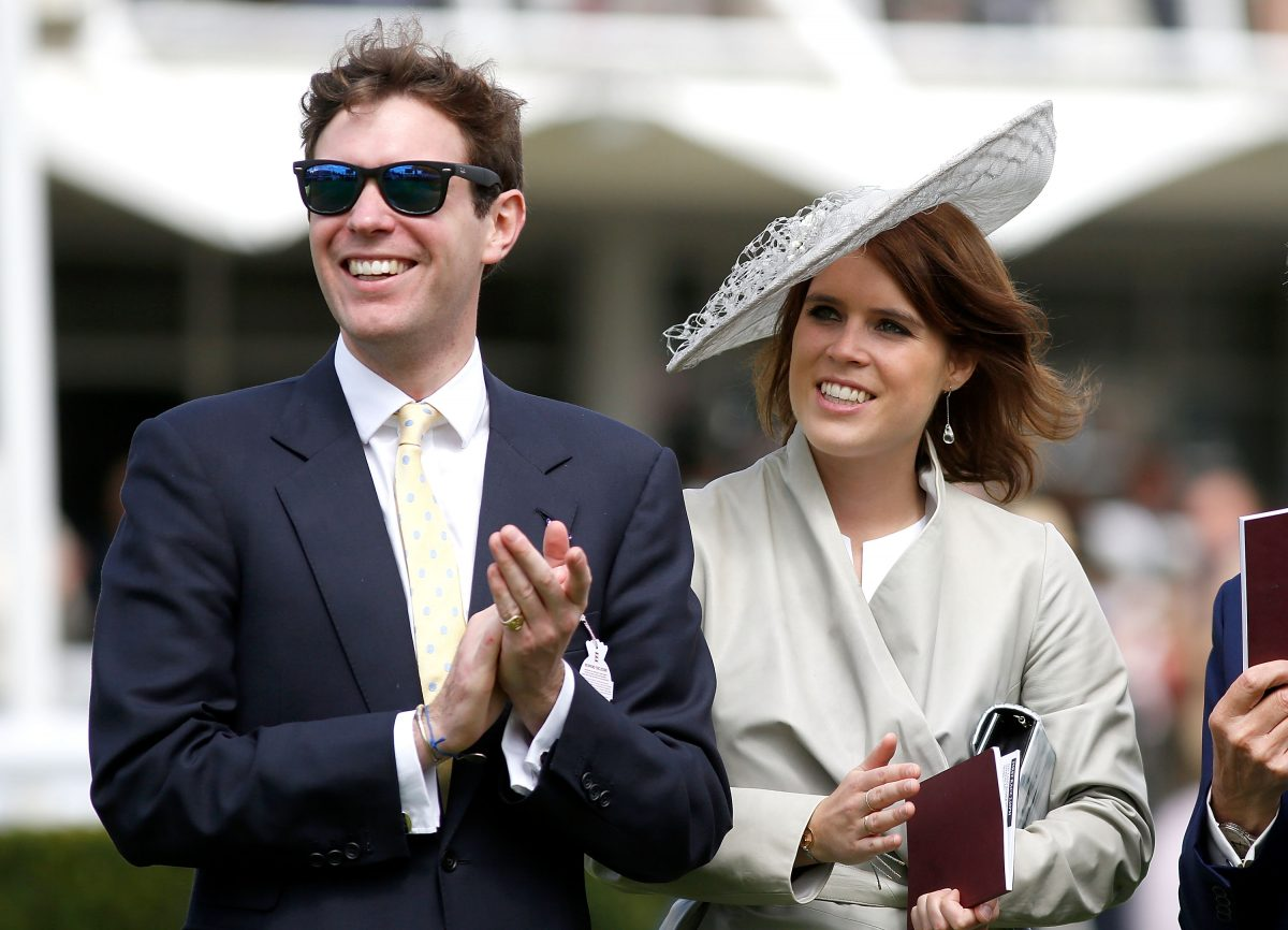 Princess Eugenie and Jack Brooksbank attend day three of the Qatar Goodwood Festival at Goodwood Racecourse