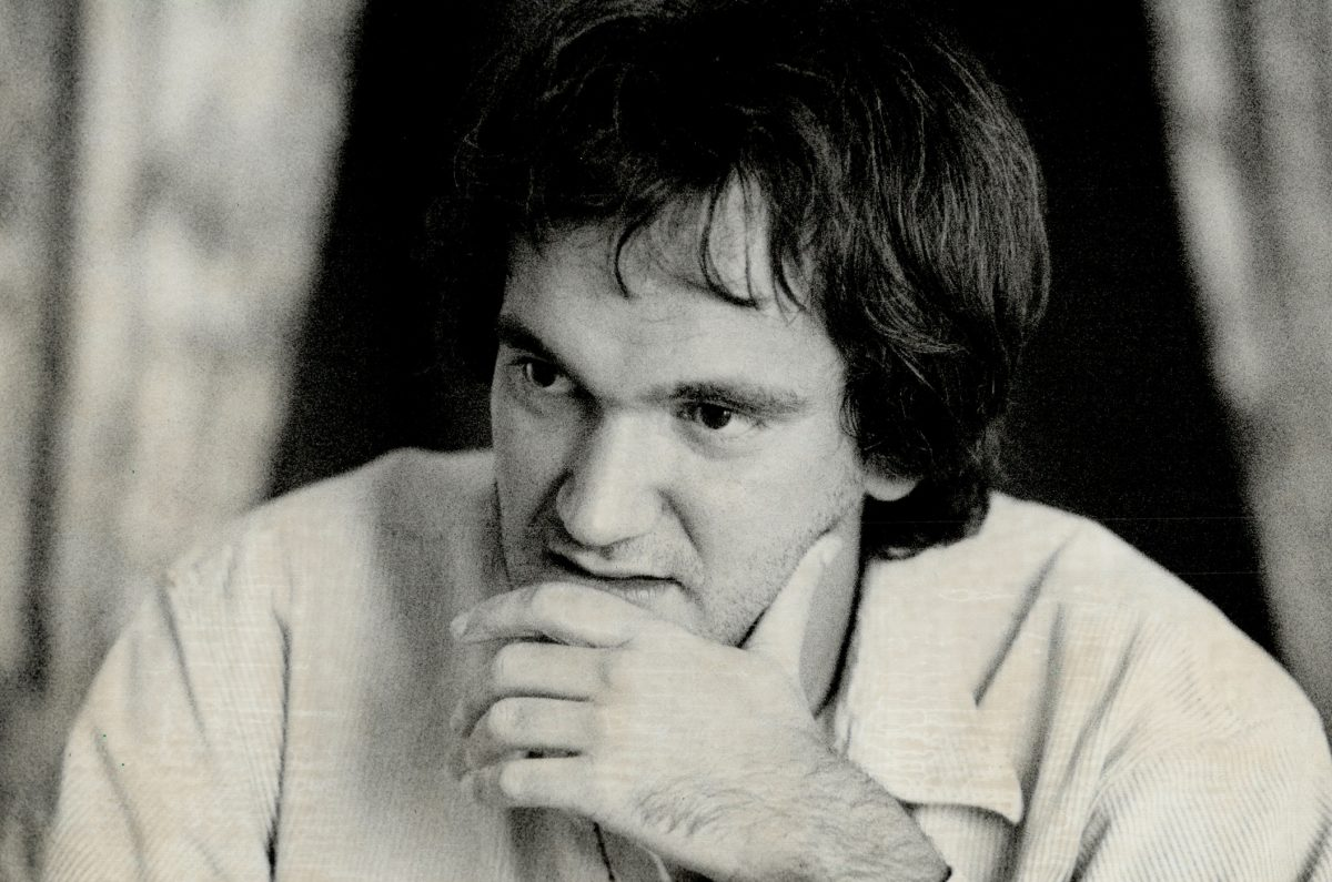 Quentin Tarantino in a promotional photo in the 1990s