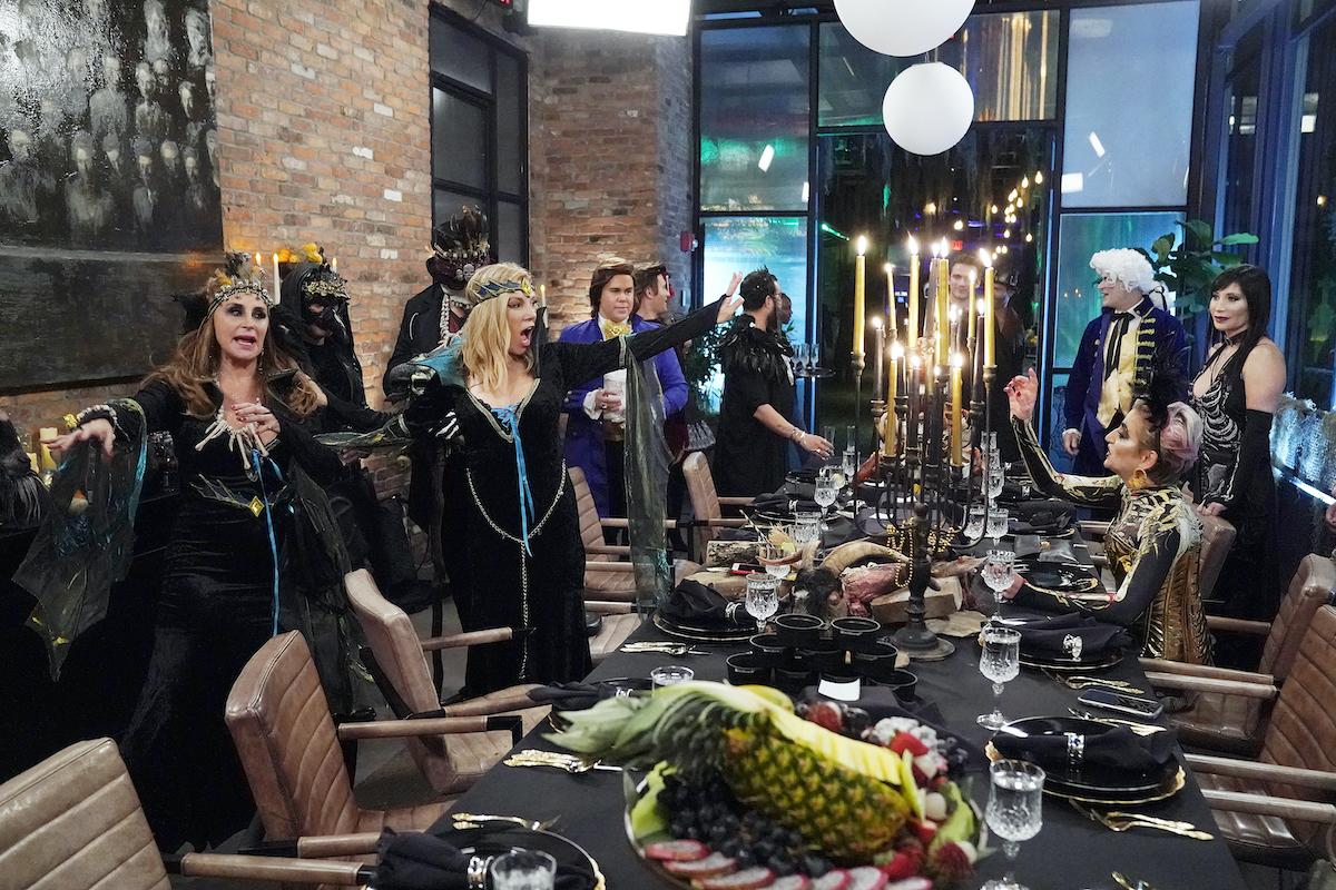 Sonja Morgan, Ramona Singer, Dorinda Medley, Elyse Slaine at a Halloween party.