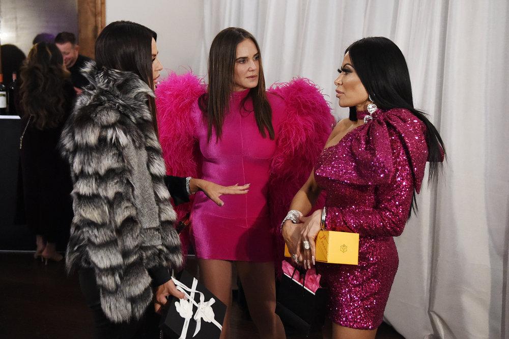Lisa Barlow, Meredith Marks, Jen Shah at a party