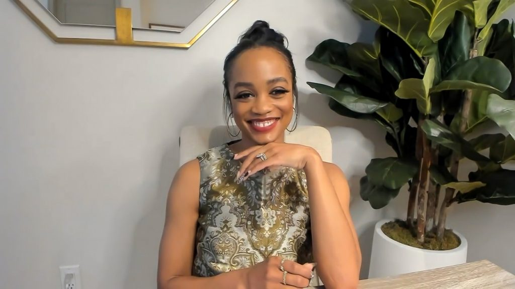 The Bachelor alum Rachel Lindsay on Watch What Happens Live with Andy Cohen