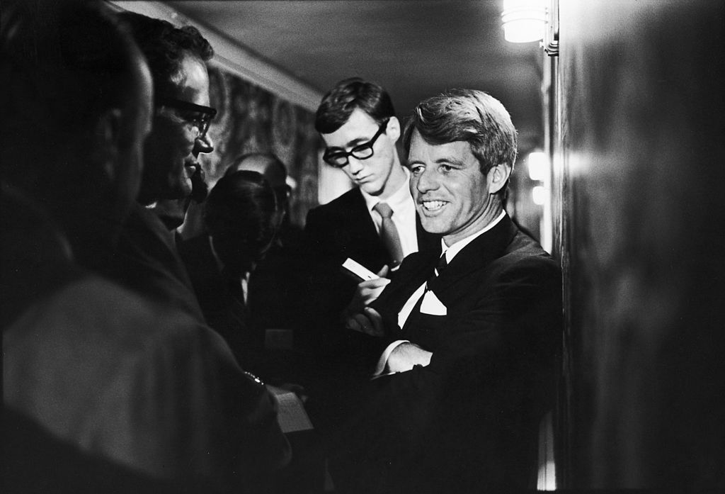 Robert F. Kennedy at The Ambassador Hotel in Los Angeles on June 5, 1968