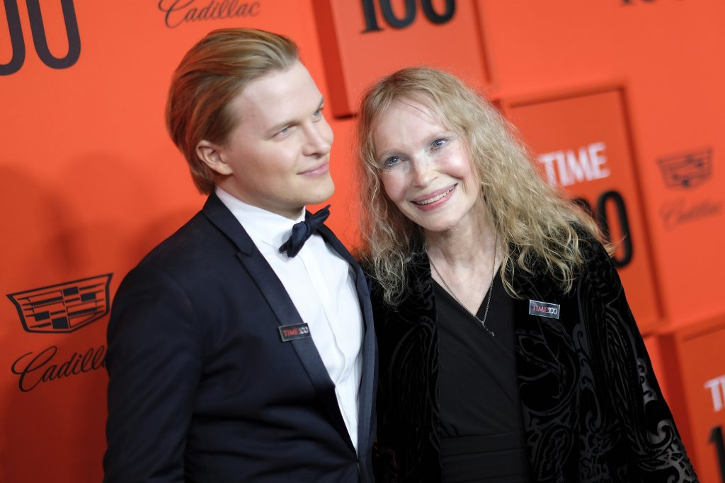 Ronan Farrow and Mia Farrow attend the TIME 100 Gala at Lincoln Center on April 23, 2019 in New York City
