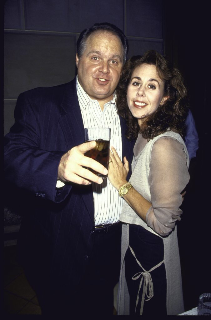 Rush Limbaugh with his arm around wife Marta Fitzgerald