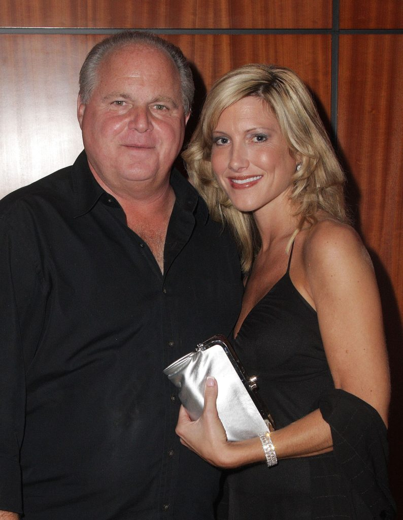 Rush Limbaugh and wife Kathryn Adams Limbaugh dressed up at a gala