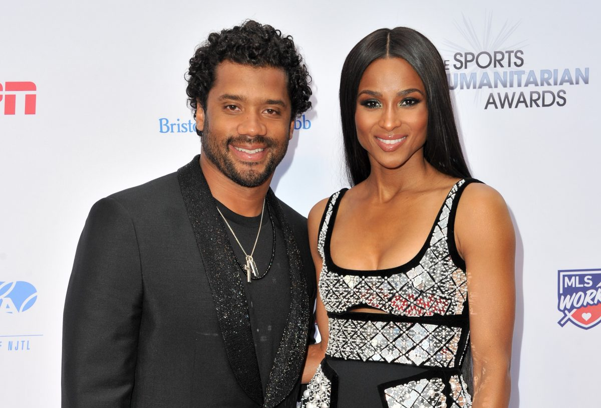 Russell Wilson and Ciara attend 5th Annual Sports Humanitarian Awards Presented by ESPN