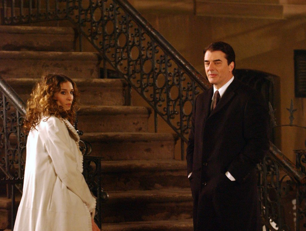 Sarah Jessica Parker as Carrie Bradshaw and Chris Noth as Mr. Big in 'Sex and the City'