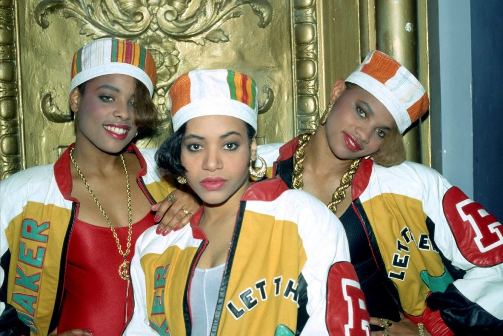 Rappers Salt-N-Pepa and their DJ Spinderell