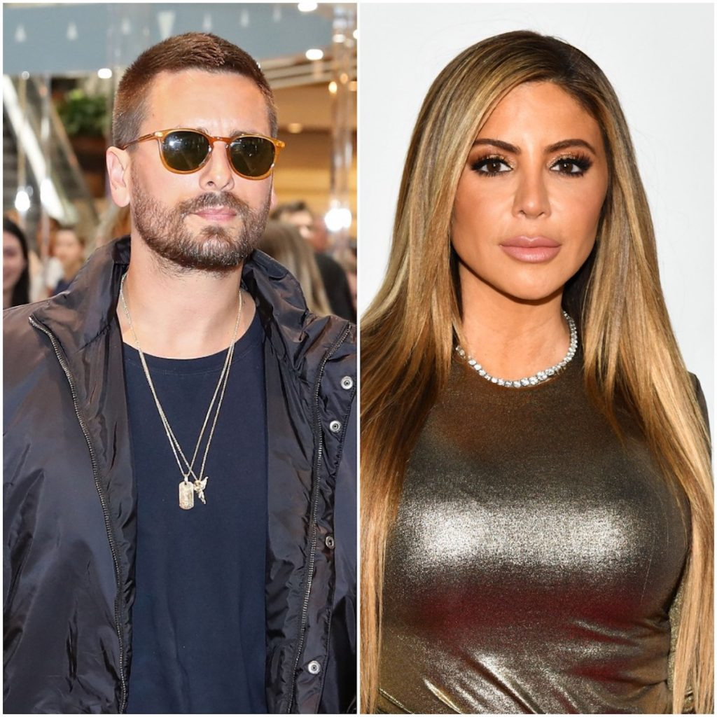 Scott Disick and Larsa Pippen at separate events