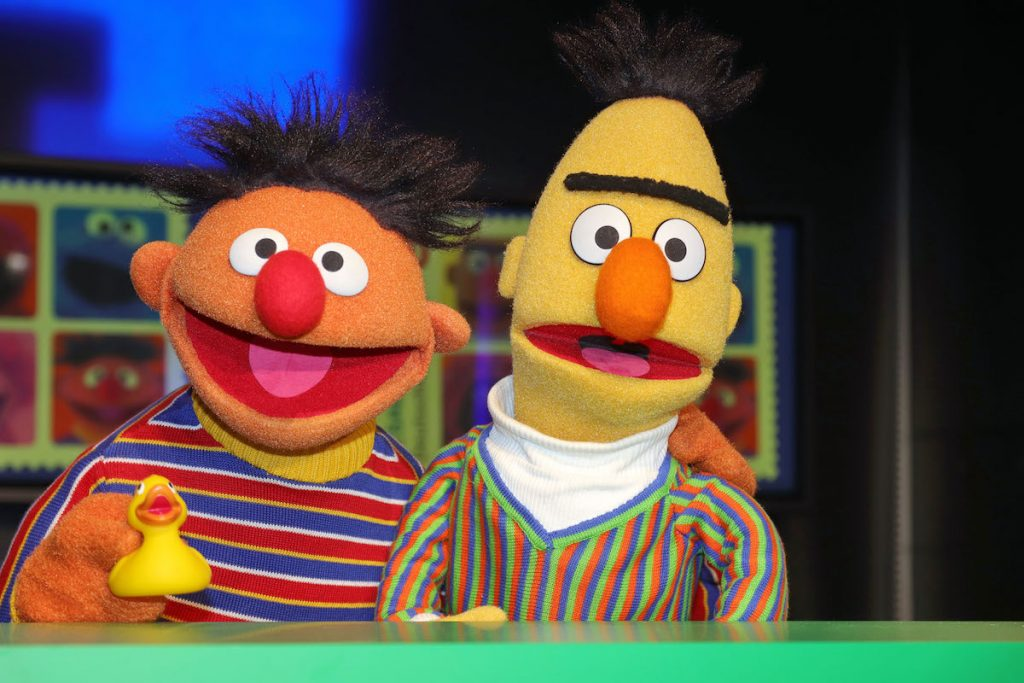 'Sesame Street' characters Bert (right) and Ernie