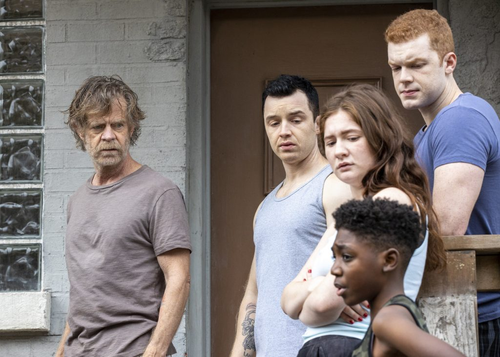 Shameless cast members William H. Macy, Noel Fisher, Cameron Monaghan, Emma Kenney, and Christian Isaiah