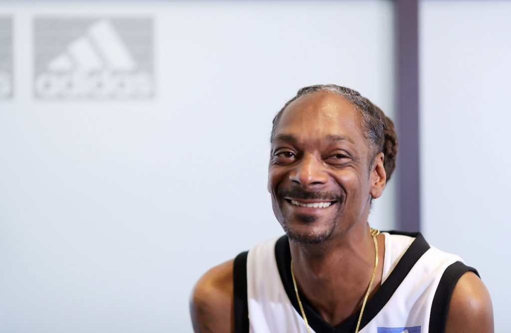 Snoop Dogg during adidas Creates 747 Warehouse St., an event in basketball culture, on February 16, 2018 in Los Angeles, California.