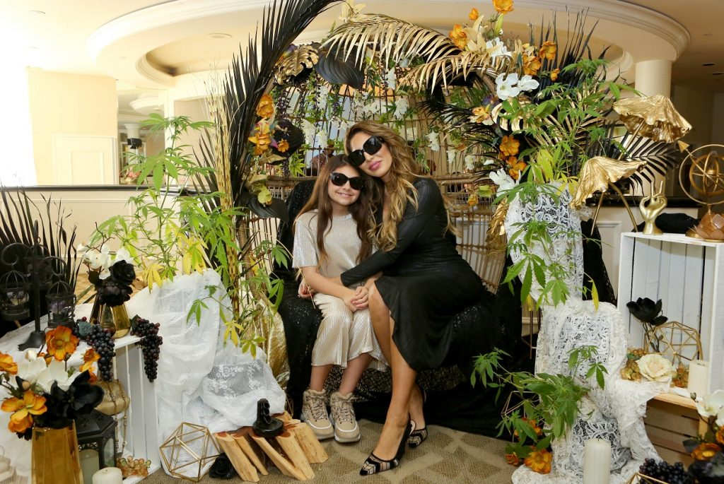Farrah Abraham and her daughter, Sophia, attend an event at the Beverly Hills Hotel