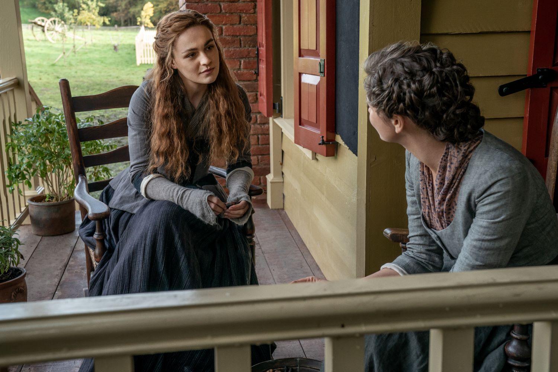 Sophie Skelton and Caitriona Balfe on 'Outlander'
