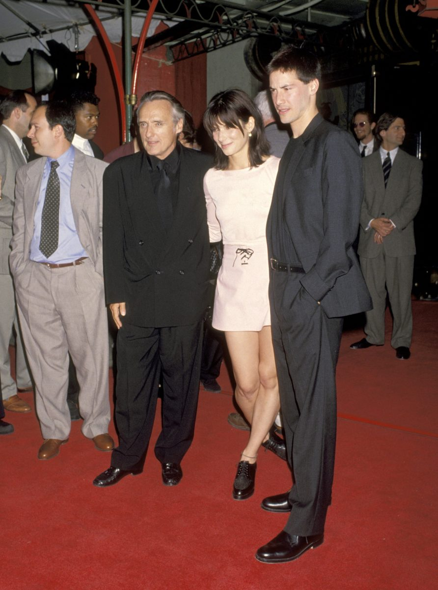 Speed stars Dennis Hopper, Sandra Bullock and Keanu Reeves at the premiere